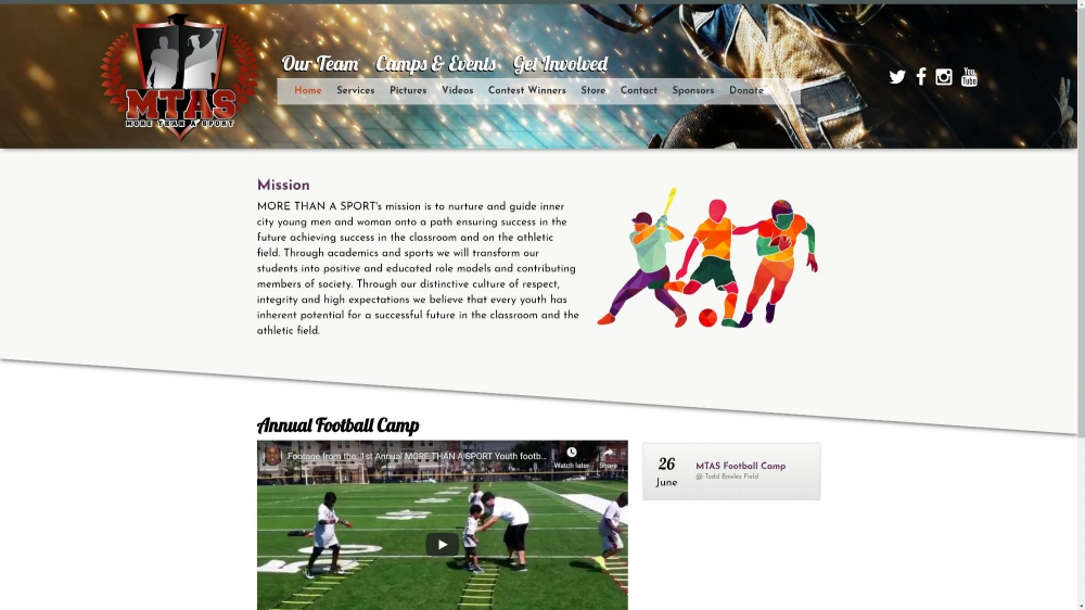 More Than A Sport by Celebration Web Design