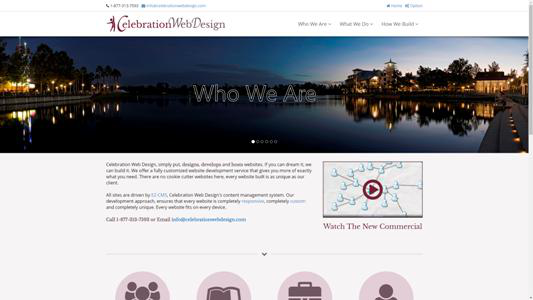 CelebrationWebDesign.com - website design and development