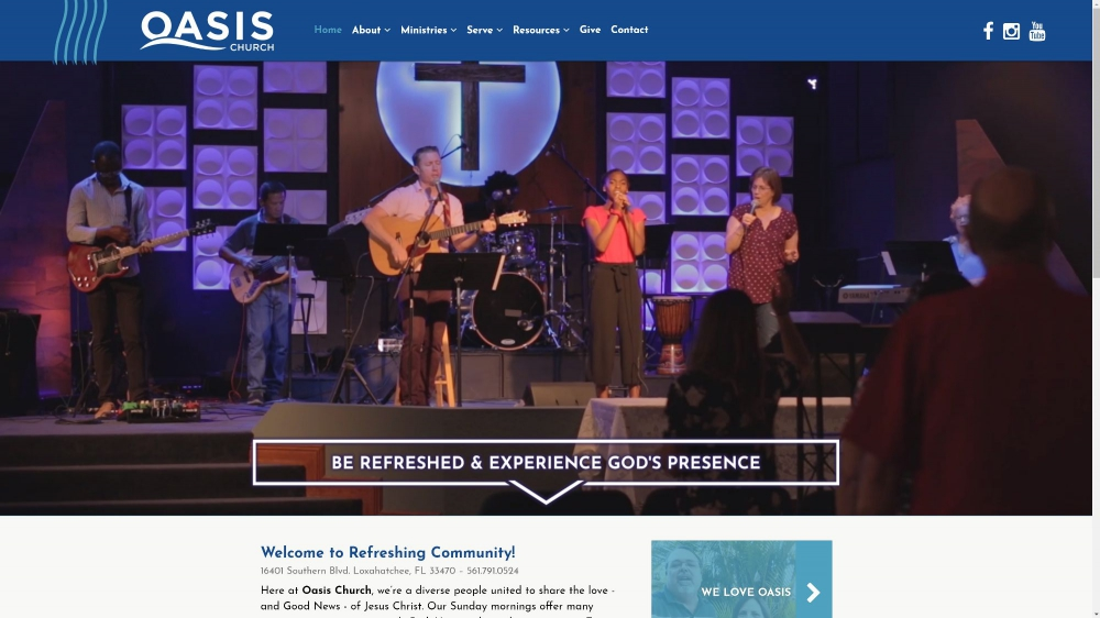 Oasis Church Alliance by Celebration Web Design