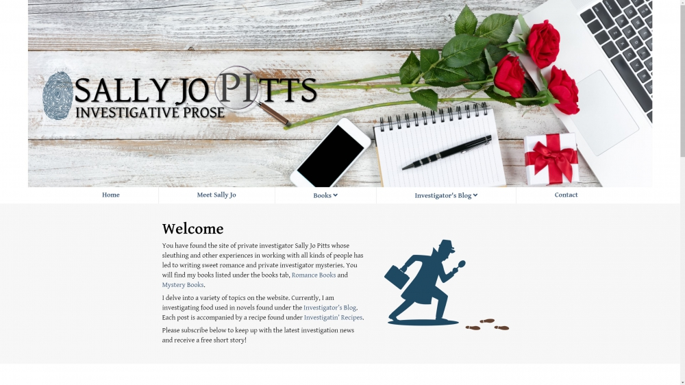 Celebration Web Design Site - Sally Jo Pitts Author