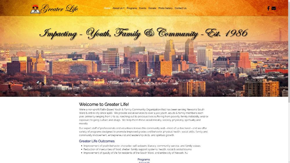 Greater Life Newark by Celebration Web Design
